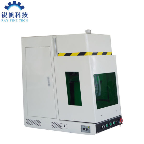 High Speed Precision CNC Mopa 60W Enclosed Fiber Laser Engraving/Cutting Machine for Aluminum/Metal/Stainless Steel/Silver/Gold Sheet