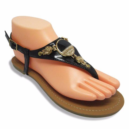 eca89a8ab2103 China Fashion Women Flat Sandal with Nice Buckle - China Flat ...