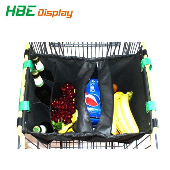 Supermarket Recycled Polyester Shopping Trolley Bag pictures & photos