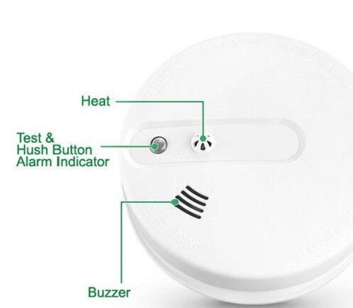 2018Wireless Smoke Detector Home Security Fire Alarm Photoelectric Sensor System