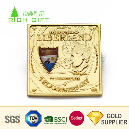 Premium Quality Custom Metal Silver Plated Square USA President Souvenir  Challenge Coins