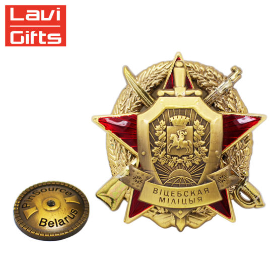 Cheap High Quality Soft Enamel 3D Logo Russia Lapel Pins pictures & photos
