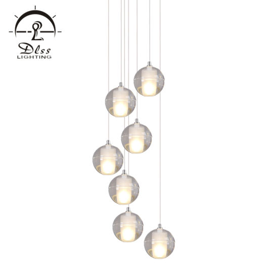 China Clear Glass Ball Led Pendant Lighting Bubble Crystal Project