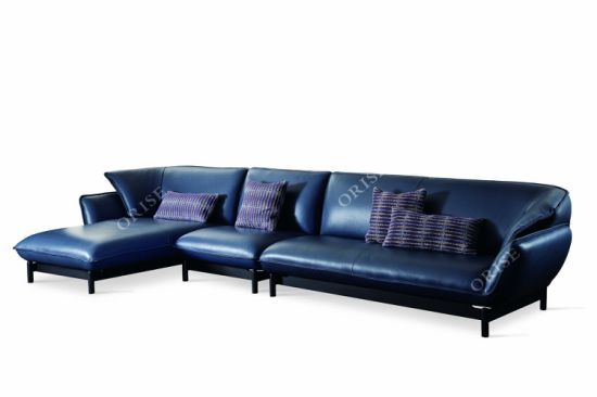 China 2018 New Model L Shaped Leather Sofa Sets For Living Room