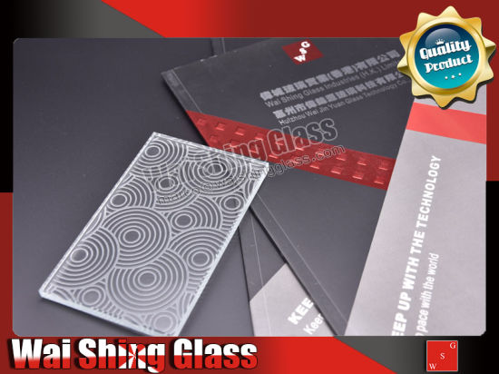 Pattern Engraved Glass Sheet for Window, Partition, Bathroom Interior Decoration