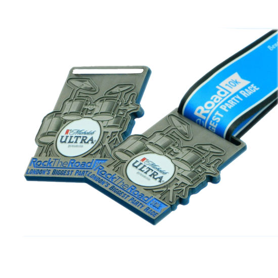Die Casting Zinc Alloy London's Party Race Medals with H Shape Ribbon for Promotion (057)
