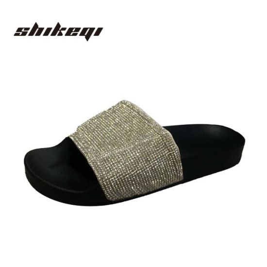 78bb70214c90f Ladies Luxury Slippers Bling Slides