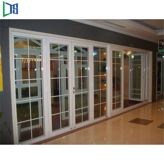 China Australian Standards Double Glazing Lowes Bi Fold Door