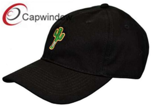 Dad Baseball Cap with Flat Embroidery Brass Metal Buckle