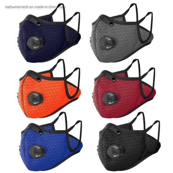 5 layers activated carbon filter cycling face guard sport mask in stock