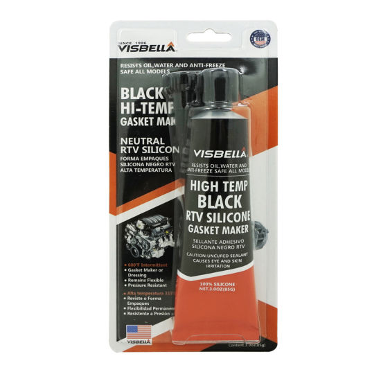 China Black Silicone Adhesive RTV Gasket Maker Walmart - China
