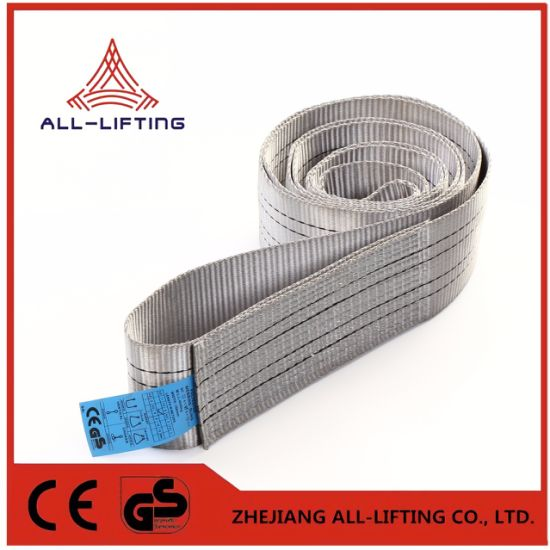 4t Single Flat Lifting Belt Polyester Endless Webbing Sling