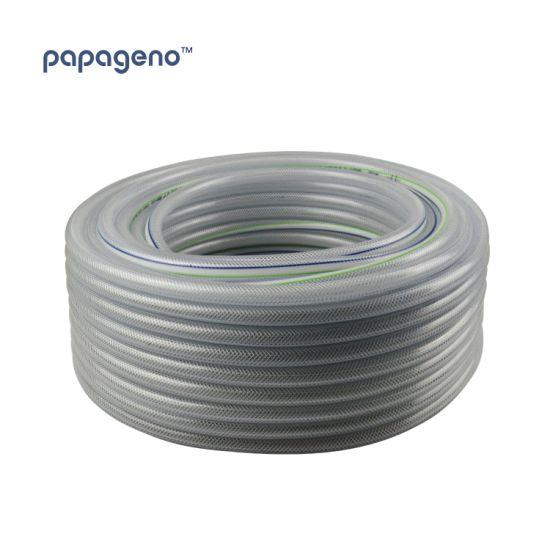 High Pressure Braided PVC Tubing Clear Hose Braid Reinforced Pipe