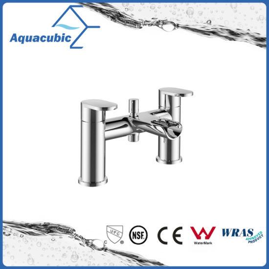 Deck Mount Brass Chromed Body Double Handle Bathtub Faucet (AF2002 2A)