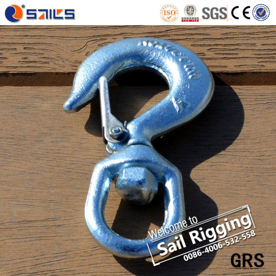 Us Type Drop Forged S-322 Swivel Hook with Safety Latch pictures & photos