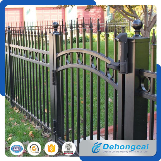Beau Outdoor Steel Garden Fencing / Wrought Iron Fence Gate For Home
