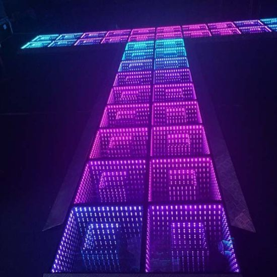 China 3d Mirrow Interactive Led Dance Floor For Wedding