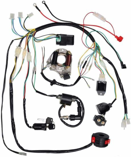 Complete Electrics Stator Coil Cdi Wiring Harness Solenoid Relay Spark on