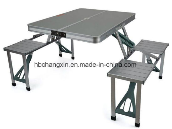 Aluminium Folding Camping Outdoor Bbq Picnic Table Chairs Set
