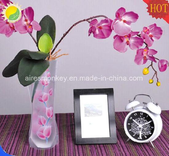 China Printed Foldable Flexible Cheap Plastic Pvc Flower Vase