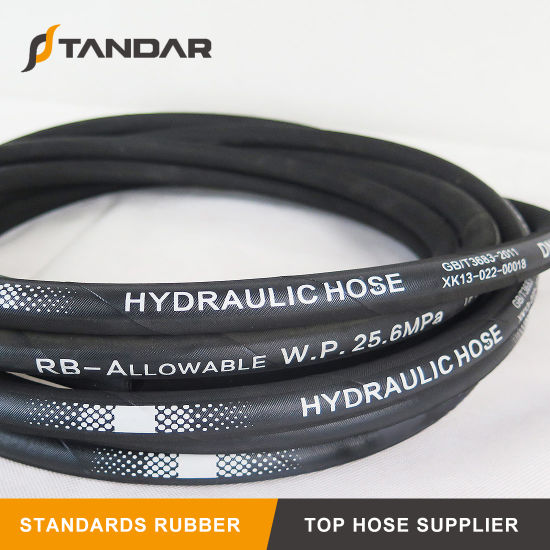 Flexible High Pressure Hydraulic Rubber Industrial Hose for Truck Parts