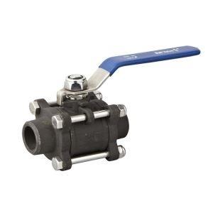 3PC Carbon Steel 1000 Psi Butt Welding Ball Valve 316 Trim, NPT End for Water