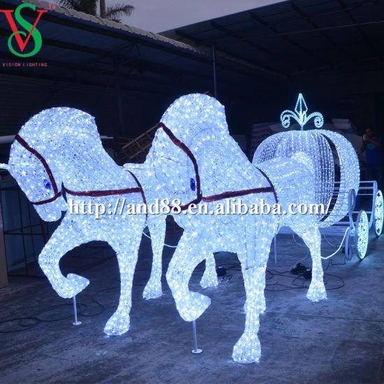 Led Horse Carriage Cinderella