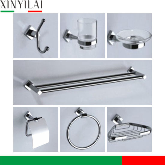 China Chrome Brass Material Accessory Set For Bathroom Use China