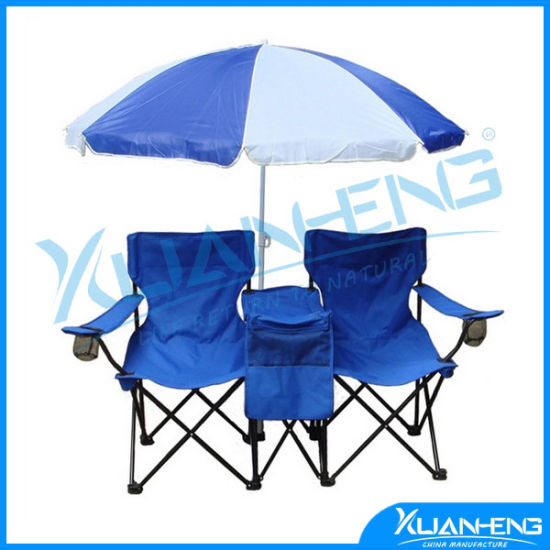 Swell China Double Folding Chair Umbrella Table Cooler Fold Up Forskolin Free Trial Chair Design Images Forskolin Free Trialorg