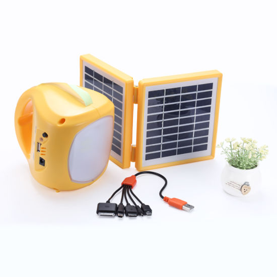 Factory Original Solar Power LED Reading Lamp Hand Camping Lantern Table Desk Light pictures & photos