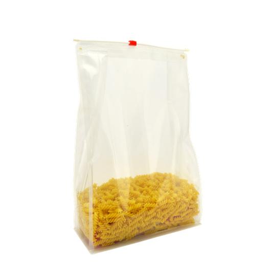 Clear Plastic Flat Bottom Slider Zipper Bag