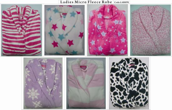 Cheap Solid Color&Printed Children&Adult Coral Fleece Bathrobe (SGN113043) pictures & photos