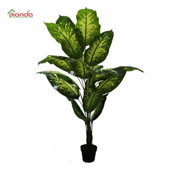 Indoor Environmental Friendly Artificial Dieffenbachia Plant Evergreen Tree