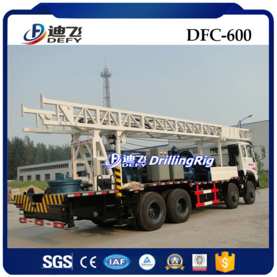 Truck Mounted Drilling Rig for Water Well Dfc-600 with Mud Pump