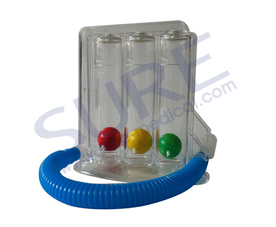 Good Quality Triflow Incentive Spirometer (Respiratory Exerciser) (SR8034)