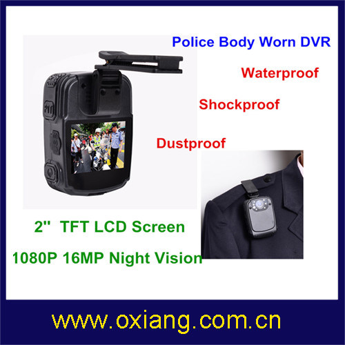 Waterproof Police Body Worn Video Camera with 120 Degree Wide Angle pictures & photos