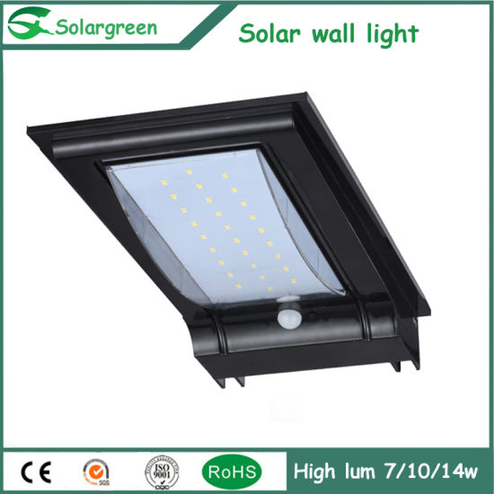 7W Big Solar Panel Battery Strong Version Solar Wall Light