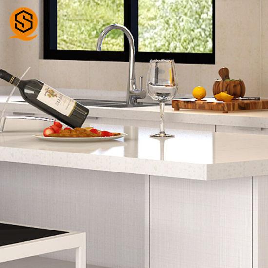 China Prefabricated Epoxy Resin Kitchen Countertops Marble Kitchen