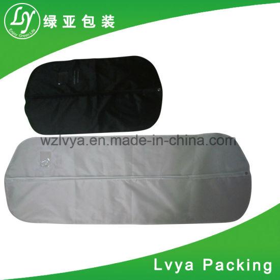 476bd1922fba Promotional Dustproof Zipper Custom Black Plastic PEVA Non Woven Suit Cover  Travel Bag Garment Bag