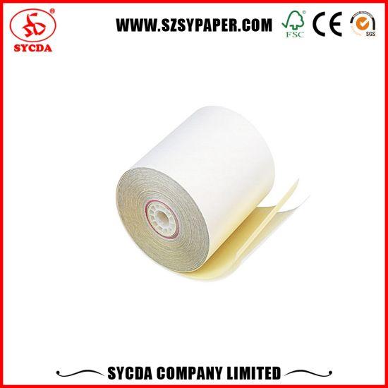 3ply 55GSM NCR Paper Carbonless Paper Rolls Cash Register Paper Roll