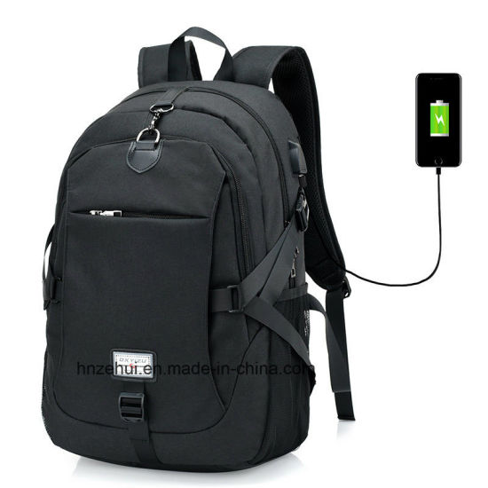 2d854eda8eef Black Men′s Backpacks Large Capacity Laptop Notebook Rucksack for Women  Business Back Pack Bag
