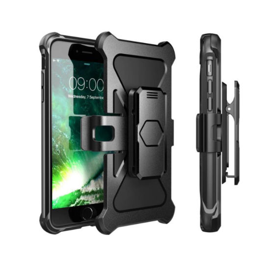 Dual-Layer Rugged with Bulit- in Kick Stand Cell Phone Case for iPhone8