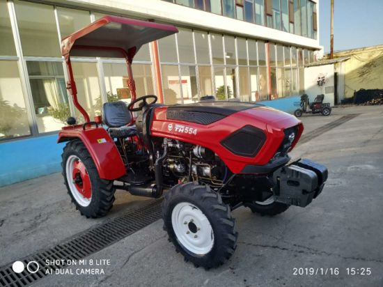 Made in China 55HP 4WD Walking Tractor Agricultural Machine Compact Mini Farm Tractors