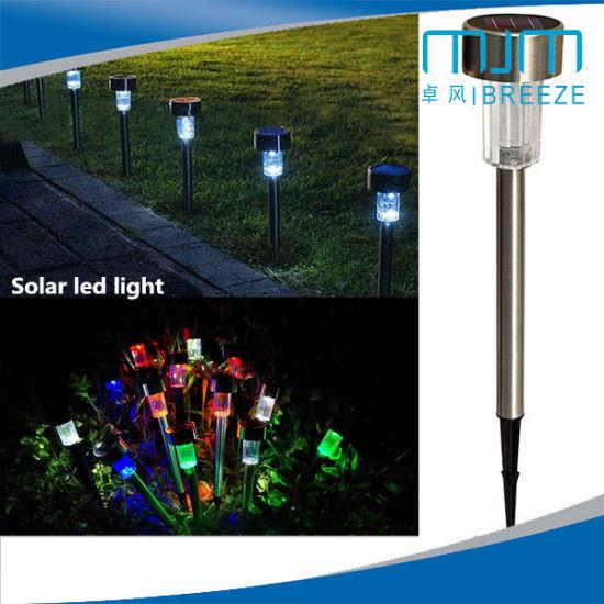 Stainless Steel Solar Lawn Lamp, LED Outdoor Lighting Courtyard Solar  Garden Light Wall Light