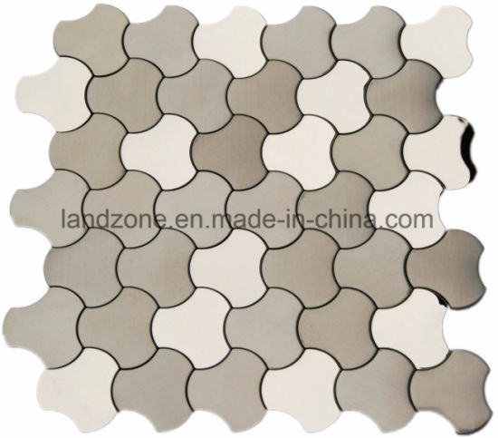 China 3D Silver S304 Stainless Steel Metal Mosaic for Wall ...