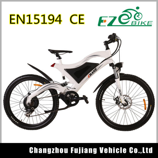 Full Suspension Electric Mountain Bike Tde05 pictures & photos