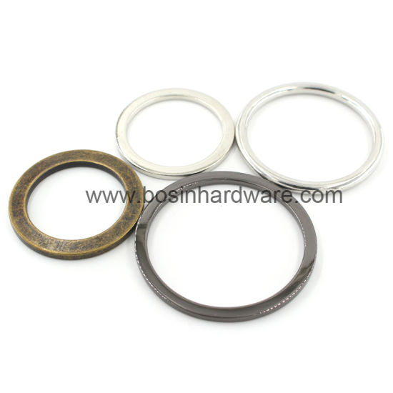 China Customized Engraved Metal Flat O Ring for Strap Webbing Belt ...