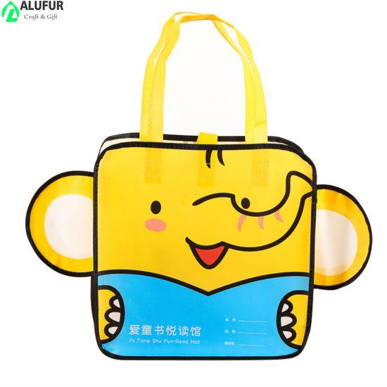 Durable Nonwoven Polypropylene Cartoon Elephant Tote Bag