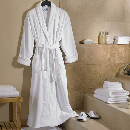 631e67c0bd China Unisex Egyptian Cotton Hotel White Velour Hooded Bathrobe ...