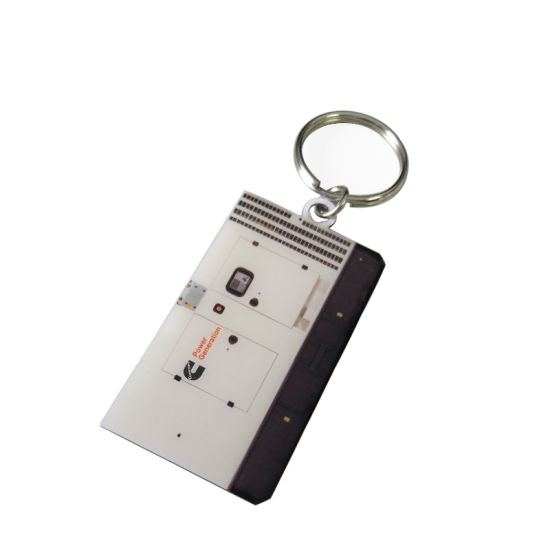china aluminum full color printing with epoxy metal key chain